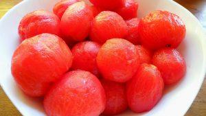 Ako ošúpať rajčiny