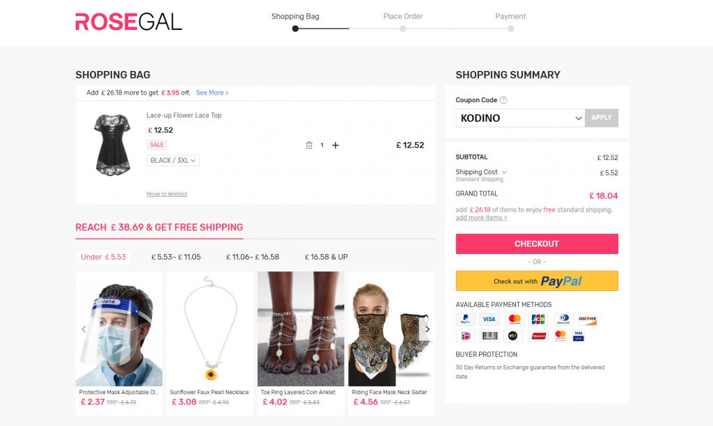 How to use Rosegal discount code